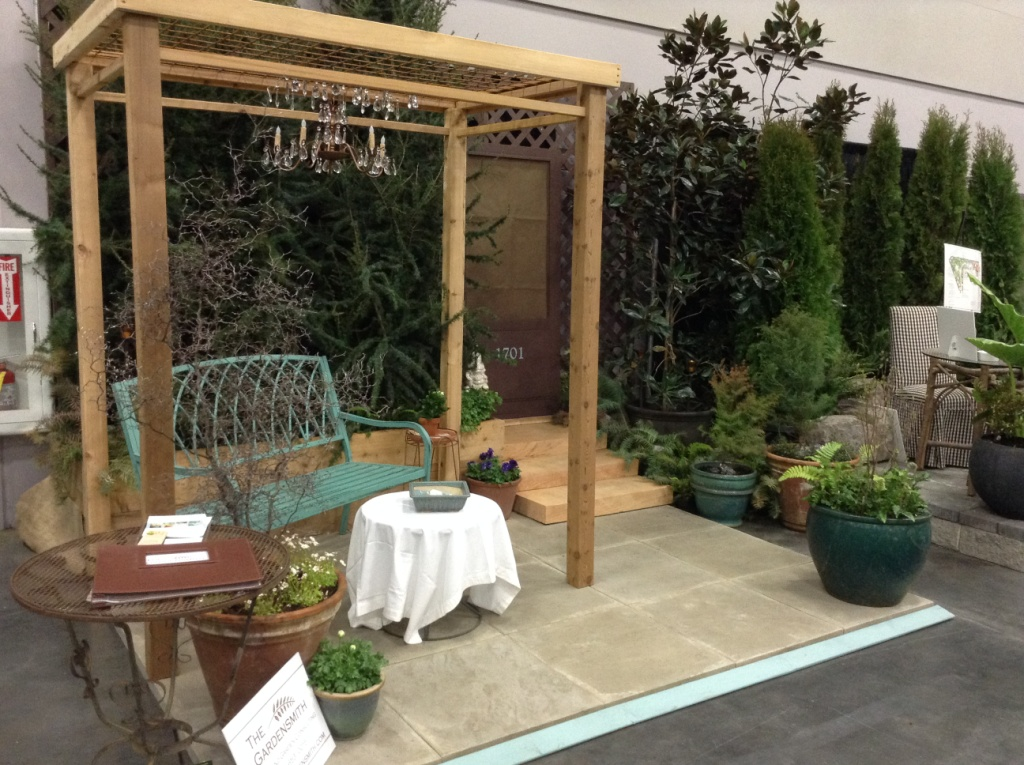 The Gardensmith's garden vignette at the Yard Garden & Patio Show.